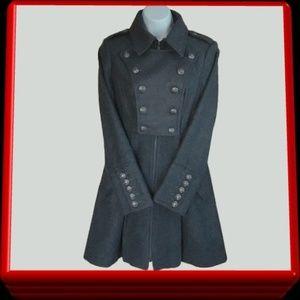 BEBE winter wool coat military style - size XS